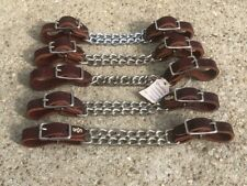 Lot of (5) New Quality Western Curb Chain Straps ~ 4 Bit / Headstall