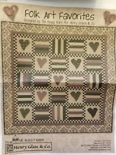 """Folk Art Favorites Quilting Kit by Henry Glass w/ Backing 76"""" x 76"""""""