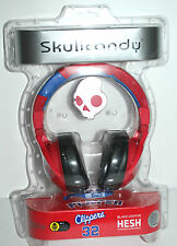 SKULLCANDY HESH SIGNATURE HEADPHONE HEADBAND W MIC 50MM RED/BLACK CLIPPERS 32