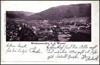 Bodenwerder an der Weser  Postkarte 1905 gelaufen Gesamtansicht Panorama Brücke
