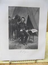 Vintage Print,NATHANIEL LYON,Gallery Eminent Americans,Alonzo Chappel,1860-62