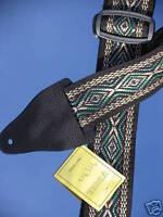 XL Klassiker GITARRENGURT gewebtes Band ECHTLEDER ENDEN stufenlos einstellbar