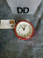 Hearth And Hand Red Table Alarm Clock New