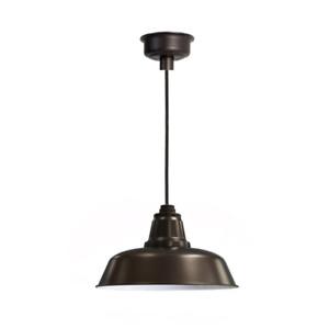 "Cocoweb 14"" Goodyear LED Pendant Light in Mahogany Bronze, Brand New"
