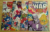 The Infinity War lot of 4 issues Marvel Comics Thanos Wolverine Iron Man Hulk