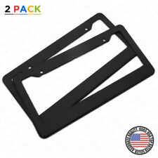 Carbon Fiber Style License Plate Frames Cover Front & Rear 2pc Set Sport Car SUV