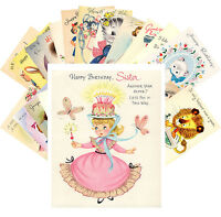 Postcards Pack [24 cards] Vintage Greeting Cards Happy Birthday Family CE5022