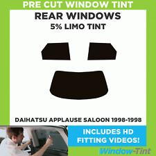 Pre Cut Window Tint - Daihatsu Applause 4-door Saloon 1998-1998 - 5% Limo Rear