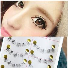 Handmade 10 Pair Natural Lower Under Bottom False Eyelashes Makeup Fake Eye Lash