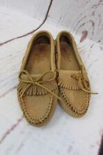 13219cfb6efa Minnetonka Moccasins Driving Shoes Women's Size 6 Tan Leather Deer Skin
