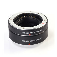 Auto AF Macro Extension Tube 10mm 16mm Set for Fujifilm X-pro 1 XF Mount Camera