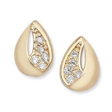 Cubic Zirconia Gold Fine Earrings