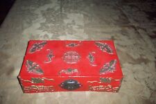 VINTAGE CHINESE BAT BOX W/MOTIF ALL AROUND CIRCA 1920'S ONE OF A KIND NO RESERVE