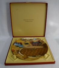 Royal Doulton china American Tapestries Collector Plate - Pumpkin Patch with Box
