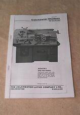 Colchester Student MK 2 Lathe Manual
