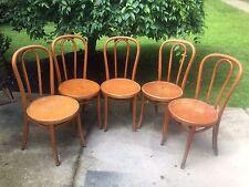 VINTAGE MID CENTURY Thonet Bentwood Bistro Side Desk Dining Chair Set of 5
