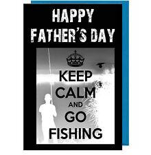 fête des pères CARTE - Keep Calm pêche ( Ardoise Effet ) PAPA / PAPA / Beau-Père