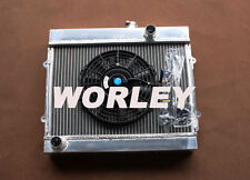 Aluminum radiator + Fan for TOYOTA COROLLA KE30 KE35 KE38 KE55 KE70 1974-1985 MT