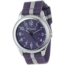 Columbia Field Fox CA016-510 Purple Nylon Band Silver-Tone Unisex Wrist Watch