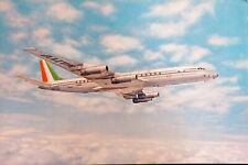 Cartolina Aeronautica - Douglas Super DC-8 Alitalia Airlines - 1970 ca.