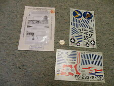 Experts Choice decals 1/48 48-53 Usafe Skyblazers F-84E/G Fustenfeldbruck F133
