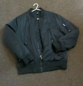 H&M black parka jacket. Medium mens's size. Only Worn once