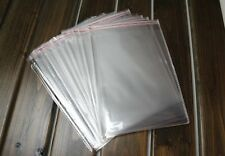 NEW 50Pcs Self Adhesive Resealable 8X14cm Clear Plastic Cellophane Bag/Packaging