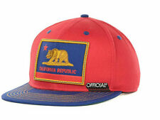 OFFICIAL Hat CALIFORNIA PATRIOT INVERSED SNAPBACK Red Blue OSFA ($32) NEW Cap