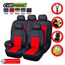 Universal Car Seat Covers Faux Leather Black Red For Women Girls Car Truck SUV
