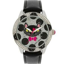 NWT GENUINE Betsey Johnson NWT $75 Glitter Cat Watch Gift Box BJ00560-02