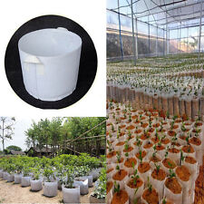 Round Fabric Pot Plant Pouch Root Container Grow Bag Aeration Container 5Size #