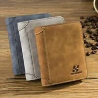 Vintage Men's PU Leather Wallet Credit Card Holder ID RFID Blocking Bifold Purse
