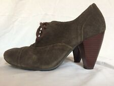 Bertie Womens Heeled Lace-Up Suede Shoes Size EU 37 / UK 4