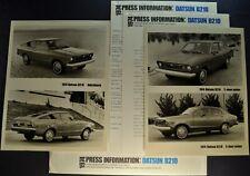 1974 Datsun B-210 Press Release Kit Sedan Hatchback Nissan Excellent Original 74
