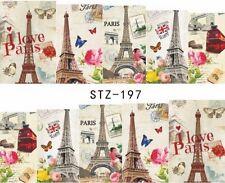 I Love Paris Eiffel Tower London Bus Nail Art Sticker Decal Decoration Manicure