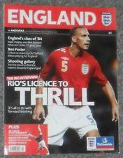Football Programme>ENGLAND v ANDORRA Sept 2006 ECQR @ Old Trafford