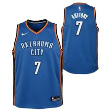 d9616effa5bf Carmelo Anthony Oklahoma City Thunder NBA Nike Youth Blue Icon Swingman  Jersey