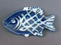 Vintage Don Drumm studio pottery stoneware glazed Fish dish, 9 inches
