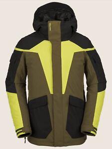 NWT MENS VOLCOM UTILITY JACKET $200 L Moss drop tail fit zip tech iterface