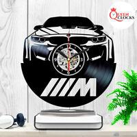 BMW M5 Series Car Logo Emblem Vinyl Record Clock Wall Art Decor Xmas Gifts Ideas