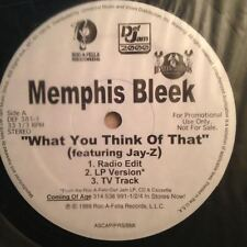 "Memphis Bleek ""What You Think Of That"" 1999 Roc-A-Fella Records PROMO NM"