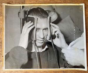 Original Ray Wood 1958 FA Cup Final Press Photograph Photo Manchester United