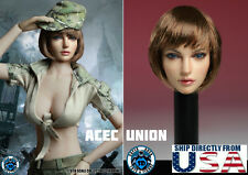1/6 American European Female Head Sculpt C SUPERDUCK For Hot Toys Phicen USA