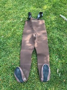 Simms Neoprene Stockingfoot Chest Waders XS Brown Fly Fishing USA