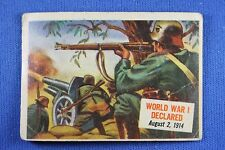 1954 Topps Scoop - #18 World War I Declared - F/G Condition