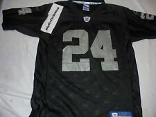 Reebok Oakland Raiders #24 Charles Woodson NFL Football Jersey Large 14-16 YOUTH