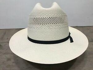 Stetson 10X straw western hat 7 1/4 excellent