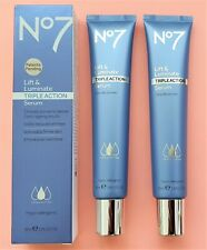 No7 Lift & Luminate Serum -Triple Action By Boots LARGE 2 x 50ml. 100% GENUINE