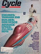 Cycle Motorcycle Magazine JANUARY 1971 JAN