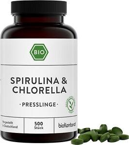 Spirulina Chlorella BIO Presslinge BIO - 500 Stück à 400mg - bioKontor